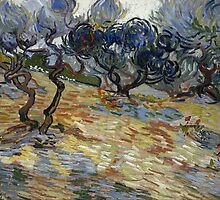 Vincent van Gogh - Olive Trees - 1889 by forthwith