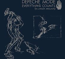 "Depeche Mode : Everything Counts 12"" -2- Grey by Luc Lambert"