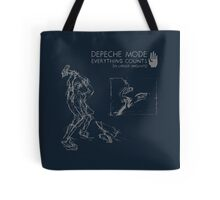 """Depeche Mode : Everything Counts 12"""" -2- Grey Tote Bag"""