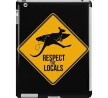 Respect the real locals. Kangaroo version. Australia surf. iPad Case/Skin