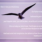 Seagull with the Lord's Prayer by Corri Gryting Gutzman