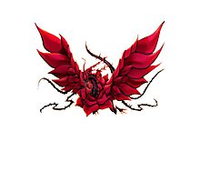 Black Rose Dragon Shirt Photographic Print