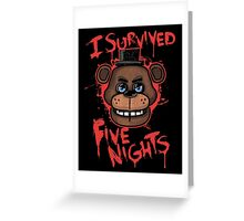 I Survived Five Nights At Freddy's Pizzeria Greeting Card