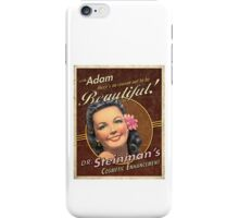 BioShock – Dr. Steinman's Cosmetic Enhancement Poster iPhone Case/Skin