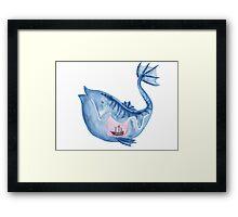 Look I drew a fish Framed Print
