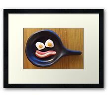 Eggs and Bacon Makes a Face Framed Print
