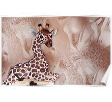 Giraffic Art Poster