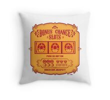 Bonus Chance Slots Throw Pillow