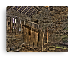 Inside The Old Stable Canvas Print