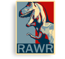 RAWR! American TREX Hope Spoof Canvas Print