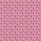 Peach Orchid Mantis Pink Pattern by SaradaBoru