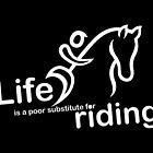 Riding v Life - Sticker by Ron Marton