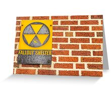 Fallout Shelter Greeting Card