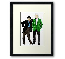 Doctor Who - Doctors 2 and 3 Framed Print