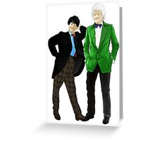 Doctor Who - Doctors 2 and 3 Greeting Card