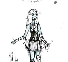 NBC Sally Costume Design Drawing by ThePirateKing