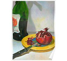 pomegranate & wine Poster