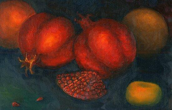 pomegranates by VioDeSign