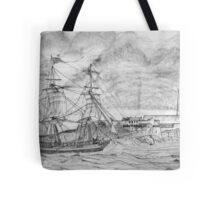 Sailing Ship off Castle Cornet in Guernsey - all products Tote Bag