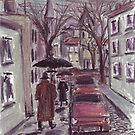 Rainy day. Pastel drawing by Vitaliy Gonikman