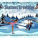 Skater's Seasons Greetings by Jane Neill-Hancock