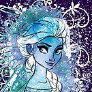 Watercolour Elsa by Narelle Craven