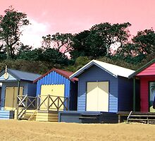 Bathing Boxes, Mornington by Roz McQuillan