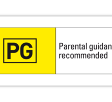 Rated PG Sticker