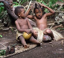 Children Playing, Vanuatu by John Douglas