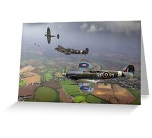 303 Squadron Spitfire sweep (cropped version) Greeting Card