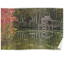 Hut of fisherman in autumn  Poster