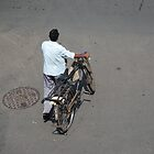 Bicycle man, Mumbai, India by SheriarIrani