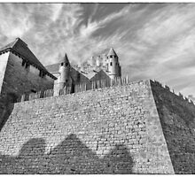 BW France Chateau Beynac Fortress by Steven House