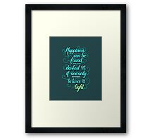 Dumbledore quote - Harry Potter Framed Print