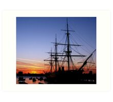 HMS Warrior at Sunset Art Print