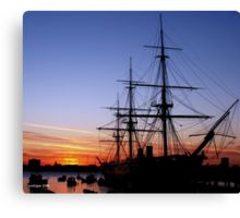 HMS Warrior at Sunset Canvas Print