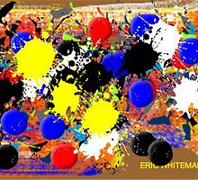 ( THREE  YEIIOW BALLS  ) ERIC WHITEMAN ART  by eric  whiteman