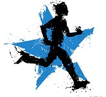 Male runner with star by Richard Eijkenbroek