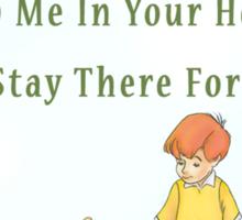 Winnie the Pooh Disney - Firendship Loveship Quote Sticker