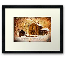 Winter Homeplace Greeting Card Framed Print