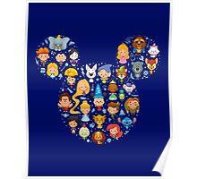 Disney Movies - All Characters Poster