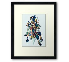 Kingdom Hearts - Sora and All the Others Lovely Portrait Framed Print