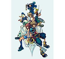 Kingdom Hearts - Sora and All the Others Lovely Portrait Photographic Print