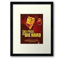 Ski Free or Die Hard Framed Print