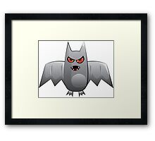 Cartoon bat Framed Print