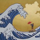In the face of The Great Wave by chelsgus