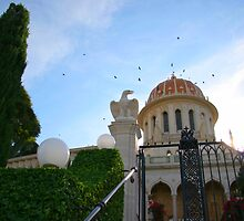 Shrine of the Bab Closeup-Mt Carmel, Haifa, Israel by Anthony  Ket