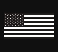 American Flag, STARS & STRIPES, USA, America, Americana, Black on Black by TOM HILL - Designer