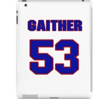 National football player Omar Gaither jersey 53 iPad Case/Skin