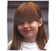 Girl With Auburn Hair and Freckles Poster